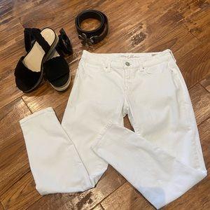 Mavi White Alexa Skinny Ankle Jeans, 29
